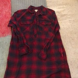 J. Crew Flannel Shirt Dress